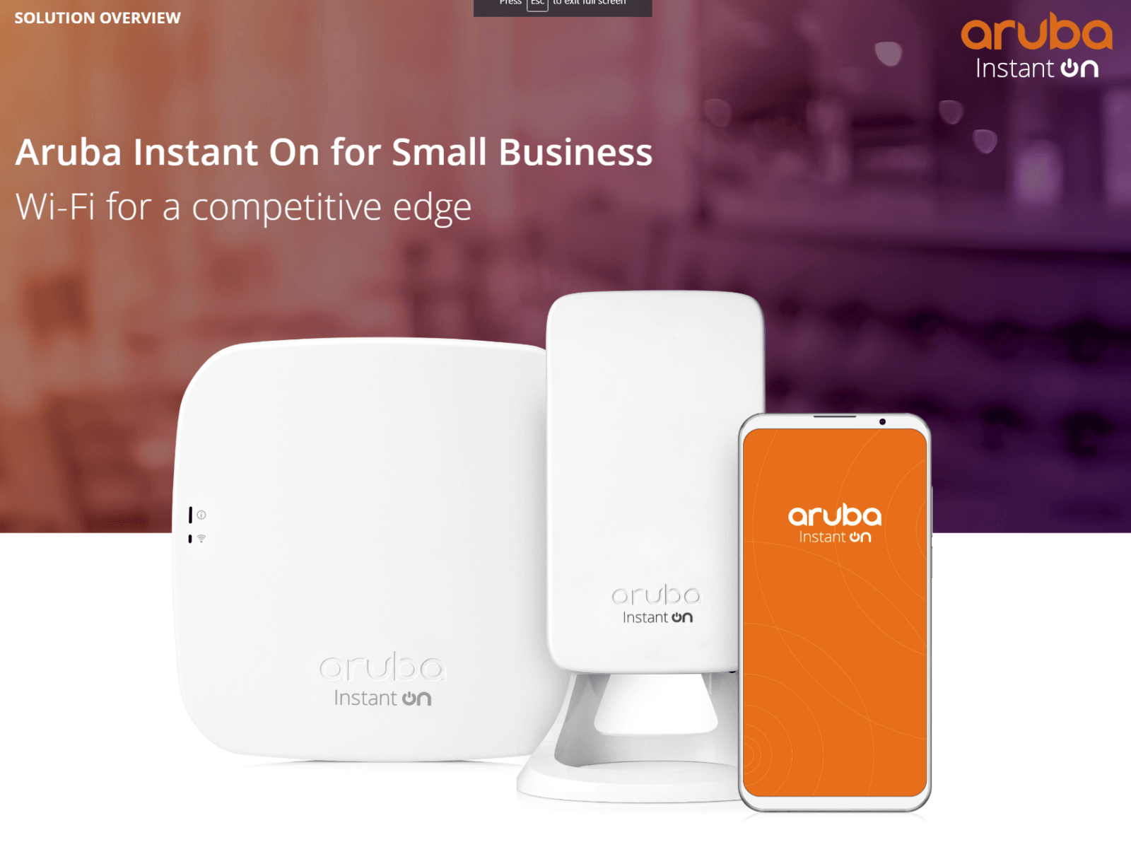 End User License Agreement   Aruba Instant On