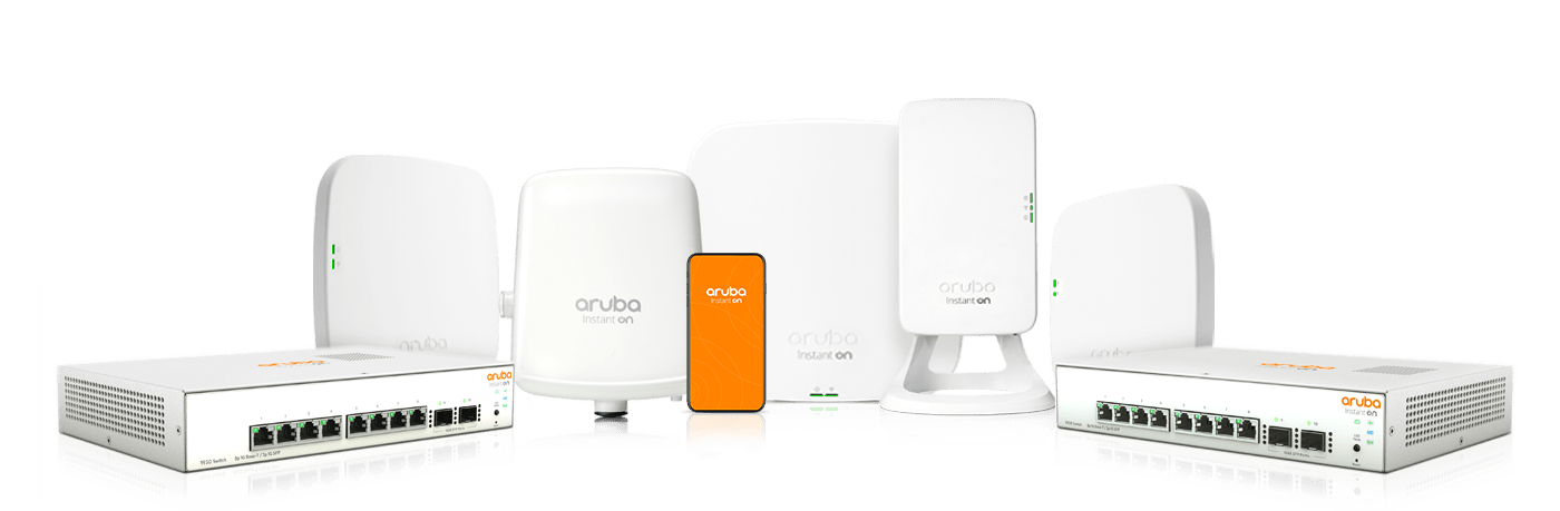 Aruba Instant On access points and switches