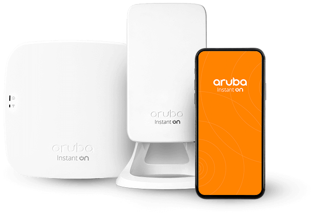 access point, wi-fi router, and phone with app hero image