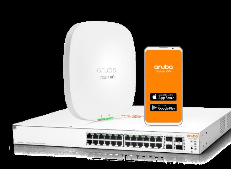 imagen principal del accesspoint, router wi-fi y teléfono con aplicación